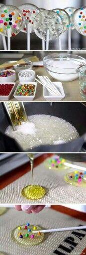 Home made lollipop