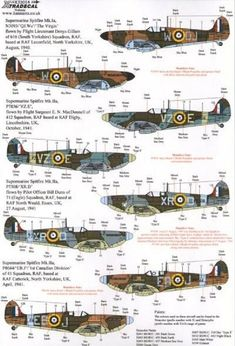 Xtradecal X32054 1/32 Supermarine Spitfire Mk.I/Mk.IIa Pt 2 Model Decals | eBay