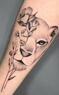 70 Female and Male Lion Tattoos Cute Thigh Tattoos, Mommy Tattoos, Leo Tattoos, Baby Tattoos, Mini Tattoos, Couple Tattoos, Body Art Tattoos, Female Thigh Tattoos, Animal Tattoos For Women