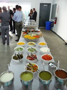 Chips and salsa bar to hell manage the taco bar line, possibly a taquito station too? Taco Bar Wedding, Food Truck Wedding, Wedding Reception Food, Cheap Wedding Food, Trendy Wedding, Wedding Stuff, Wedding Snacks, Wedding Catering, Reception Ideas