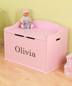 Pink Austin Personalized Toy Box  by KidKraft on #zulily today