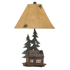 Woodland Getaway Table Lamp with Night Light