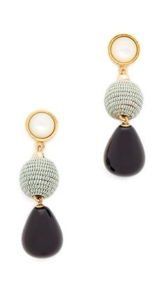 Lizzie Fortunato Moss & Agate Drop Earrings