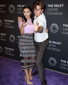 """228.1k Likes, 723 Comments - Camila Mendes (@camimendes) on Instagram: """"last night at the Paley Center with my lesser known costar @colesprouse (Danimals, Just 4 Kicks)"""""""