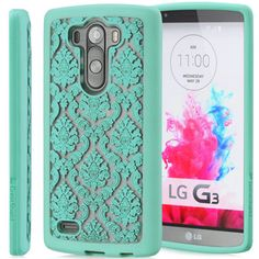 LG G3, G2 - Antique Damask On Clear Case in Assorted Colors - Thumbnail 2