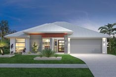 New South Wales Home Design - GJ Gardner make building your new home stress free. Entrance Design, House Entrance, New Home Designs, Home Design Plans, Custom Home Builders, Custom Homes, Holidays In New York, One Level Homes, Facade House