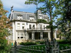 Negley-Gwinner-Harter House, the second oldest surviving mansion on Pittsburgh's Millionaire's Row. The home was built for Civil War veteran and attorney William Negley in the Second Empire style in 1871-72.