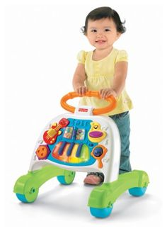 $32.99-$33.99 Baby Fisher-Price 2-in-1 Singing Band Walker - Add to the thrill of learning to walk-with exciting musical accompaniment on a sturdy push-along walker! Baby can sit and play too-tapping, pressing, spinning, flipping, and singing along with the band. There are pages to turn, busy activities, lively music, dancing lights, fun sounds ... and even rewarding phrases and vocal scats.Requ ...