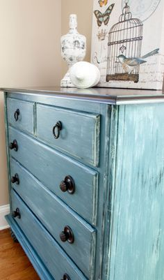 TV cabinet makeover and reinvented as a kitchen cabinet | The Chelsea Project | www.thechelseaproject.com