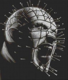 Pinhead - Hellraiser Cross Stitch Pattern (31 Colors)