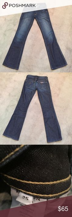 """Hudson signature boot cut petite jeans. 25"""" waist Hudson signature boot cut petite jeans. Waist 25"""". Inseam 30"""". In great condition. Hudson Jeans Jeans Boot Cut"""