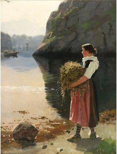 Hans Dahl (1849–1937): Beim Heutransport