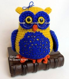 Ikeiko the owl amigurumi PDF ebook crochet pattern by Nowacrochet