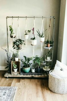 Home Design And Decor Ideas And Inspiration Hanging Herb Garden. Home Design And Decor Ideas And Inspiration. The post Home Design And Decor Ideas And Inspiration appeared first on DIY Shares. How to create an indoor hanging herb garden. Idea: hang from Hanging Herb Gardens, Hanging Herbs, Hanging Plant Diy, Balcony Hanging Plants, Vertical Herb Gardens, Small Balcony Decor, Diy Hanging Shelves, Balcony Ideas, Hanging Basket