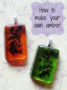 Resin Obsession blog:  DIY amber charms and jewelry
