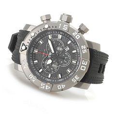 623-734 - Invicta 53mm Sea Base Limited Edition Swiss Made Quartz Chronograph Titanium Case Strap Watch