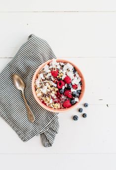 Click here to see more healthy power bowl recipes from Kelly! My friend & I shared this acai bowl in NYC last Fall and I've been hooked ever since. Full of fruit and antioxidants, but also not ...