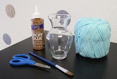 DIY: Yarn wrapped vase for your wedding day vase decorations for weddings Wedding Party