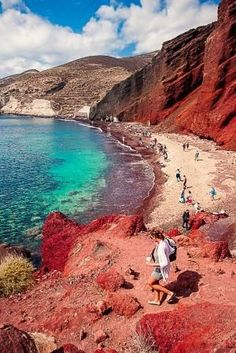 Red Beach , Santorini by Agnieszka Bak by alexandra