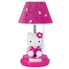 Hello Kitty themed bedding and bedroom decor: Ready to glam up the bedroom Hello Kitty Style? It's an easy 'do it yourself' project with our featured themed bedding featuring favorite colors and of course, Hello Kitty. Decorating your kids' rooms is. Hello Kitty Bedroom, Cat Bedroom, Bedroom Decor, Bedroom Ideas, Hello Kitty Lampe, Hello Kitty Gifts, Sanrio, Childrens Lamps, Furniture Scratches