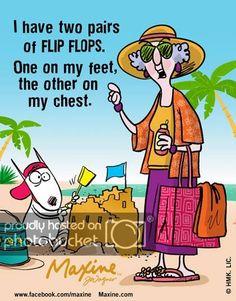 Maxine on flip flops Funny Cartoons, Funny Jokes, Hilarious, Old Age Humor, Senior Humor, Aunty Acid, Twisted Humor, Pics Art, Funny Cards