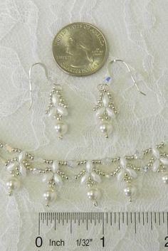 Perle Swarovski et cristal ensemble de mariée bijoux de