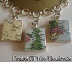 MAPS Scabble tile charms