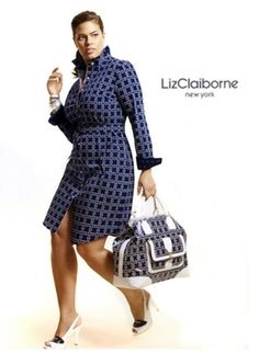 plus sized model Ashley Graham for Liz Claiborne. (I did NOT write the heading...the editorial staff did). I just repined.