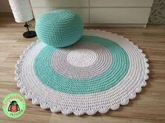 Puff Stitch Crochet, Crochet Dishcloths, Knit Or Crochet, Rag Rug Diy, Hello Kitty Crochet, Knit Rug, Crochet Winter, Knitting Accessories, Knitting Yarn