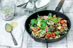 Hunajainen quinoa-kasvispaistos