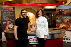 Con Mey Hofmann, en la final del concurso de Gourmet Garden. Foto de Gloria Solsona
