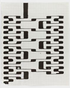 Tauba Auerbach - Ligature Drawing, 6 October 2017 Tauba Auerbach, Pattern Design, It Works, Digital Art, Graphic Design, Texture, October, Drawings, Sketchbooks