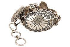 Linked Silver Concha Belt on OneKingsLane.com