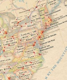 Totally Fascinating Map Of The U.S. Shows What State Names Really Mean
