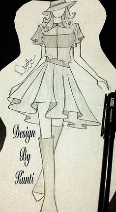 Casual outfit Dress Design Drawing, Dress Design Sketches, Fashion Design Drawings, Dress Drawing, Fashion Sketches, Fashion Figure Drawing, Fashion Drawing Dresses, Fashion Illustration Dresses, Fashion Sketchbook