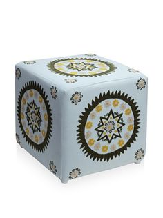 63% OFF Better Living Collection Medallion Square Ottoman (Cloud)