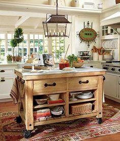 Une cuisine rustique
