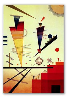 Wassily Kandinsky was a highly influential Russian painter and art theorist. Kandinsky is primarily credited for painting the first purely abstract works. Wassily Kandinsky, Kandinsky Prints, Abstract Words, Abstract Paintings, Abstract Art, Abstract Expressionism, Henri Matisse, Art Encadrée, Kunst Poster