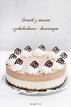 Chocolate and Coffee Mousse Cheesecake Coffee Mousse, Polish Desserts, Cupcake Cakes, Cupcakes, Pie Recipes, Cheesecakes, Sweets, Chocolate, Baking