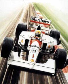 McLaren and Ayrton Senna Sport Cars, Race Cars, F1 Wallpaper Hd, Aryton Senna, Formula 1 Car, Car Posters, Automotive Art, F1 Racing, Porsche 356