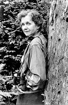 Rachel Carson, author of Silent Spring and courageous spokesperson against use of pesticides.