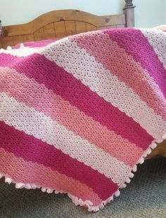 Check out this item in my Etsy shop https://www.etsy.com/listing/475197709/pink-crochet-baby-blanket-baby-girl