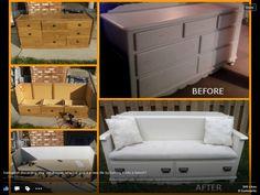 Dresser to sofa