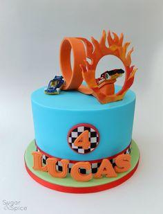Hot Wheels theme cake by Sugar & Spice Gourmandise Gifts https://www.facebook.com/SugarandSpiceGourmandise