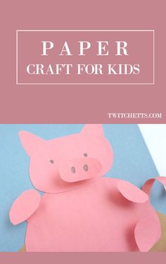 This fun paper pig craft for kids is so cute! 2019 is the year of the pig, celebrate with this fun construction paper craft that kids will love to make! Chinese New Year Activities, Fun Activities To Do, Toddler Activities, Animal Crafts For Kids, Paper Crafts For Kids, Easy Crafts For Kids, Pig Crafts, Craft Stick Crafts, Diy Craft Projects