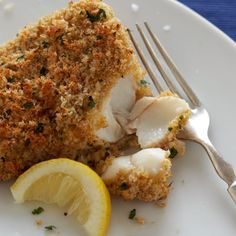 This baked-breaded cod is a healthy alternative to traditional fried fish, using organic whole-wheat breadcrumbs and organic whole-wheat flour instead.