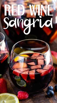 Red Wine Sangria is such a classic sangria recipe! My red sangria with brandy is the perfect party punch recipe all year long! EVERYONE requests this sangria recipe! Holiday Sangria, Red Wine Sangria, Sangria Cocktail, Apple Cider Sangria, Peach Sangria, Cranberry Juice, Summer Cocktails, Thanksgiving Sangria, Moscato Sangria