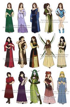 Dress n Clothes Designs: P4 - Dhonia+Various Women by MaddalinaMocanu.deviantart.com on @DeviantArt