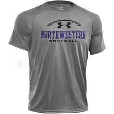 Under Armour® Grey Heather Football Tech T-Shirt     Lightweight brushed fabric with soft, comfortable hand. Superior moisture transport and enhanced dry-times. Anti-odor technology.