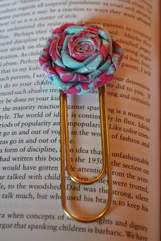 Upcycle some large paperclips to make a great bookmark!